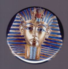 King Tut pinback button or magnet by SwankSpecials on Etsy, $3.00