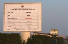 Prljavo o Lalovcu: na plakatu objavili da je Jugoslaven