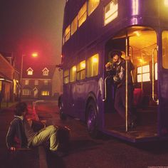"""""""Welcome to the Knight Bus… emergency transport for the stranded witch or wizard. My name is Stan Shunpike, and I will be your conductor for this evening."""" ~ Harry Potter and the Prisoner of Azkaban Harry Potter World, Harry Potter Love, James Potter, Ron Weasley, Hermione Granger, Slytherin, Lee Ingleby, Severus Rogue, Hogwarts Alumni"""