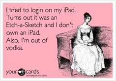 I tried to login on my iPad