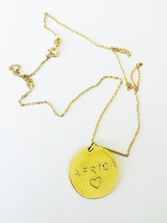 Africa <3 Soul Design, Gold Necklace, Pendant Necklace, Jewelry Design, African, Range, Cookers, Stove, Gold Necklaces