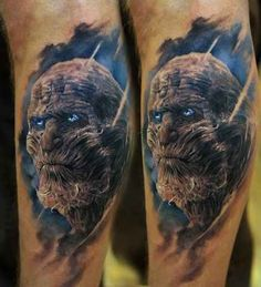 """A Terrifying White Walker 