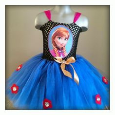 Tutu Dress Disney Inspired - Frozen Anna with Printed Picture