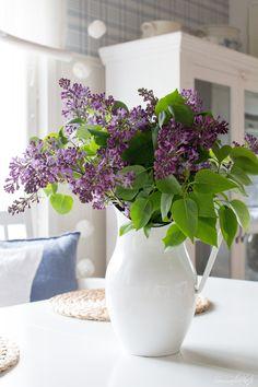 Sommarbacka Love Flowers, My Flower, Beautiful Flowers, Lavender Cottage, Lavender Green, Table Arrangements, Flower Arrangements, Ikebana, Daffodils