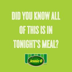 Did you know all of this is in tonight's meal? | Back to School | #JennieO #kidfriendly #dinner #GIF