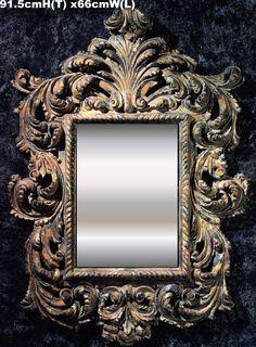 Mantel Mirror | Baroque Mirrors | Custom Hand Carved Mirrors