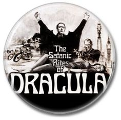 Hammer Films: Dracula button!  #buttons #badges #pins #dracula #hammerfilm #botones