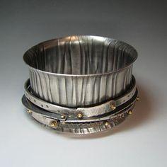 Bracelet by Jatayu, Connie Fox Fox Jewelry, Gypsy Jewelry, Wire Jewelry, Jewelry Art, Jewelry Bracelets, Jewelery, Bangles, Jewelry Ideas, Artisan Jewelry