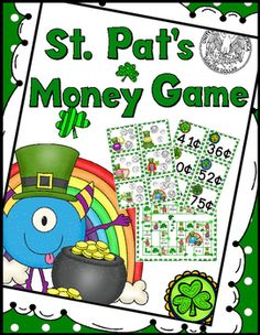 St. Patrick's Day Themed Counting Coins Game. 30 sets of coin matching cards…
