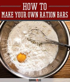 Make Your Own Ration Bars | Homemade Nutritious Food For Emergency Preparedness by Survival Life at http://survivallife.com/2015/12/21/make-your-own-ration-bars/