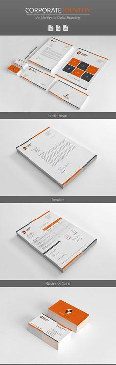 Professional Corporate Identity Stationery More