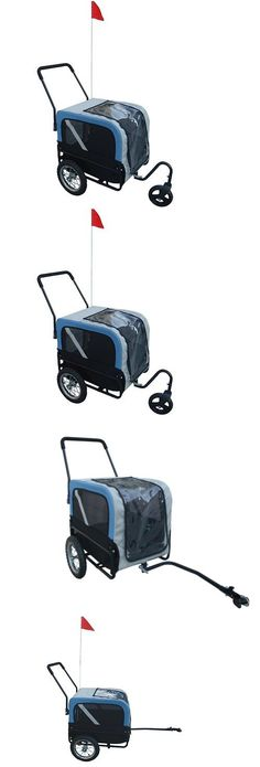 Trailers 85040: Blue Pet Carrier Dog Bike Bicycle Cycling Trailer Jogging Stroller Swivel Wheel -> BUY IT NOW ONLY: $82.99 on eBay!