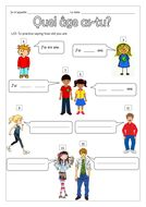 FRENCH - How old are you? - Quel âge as-tu? et C'est quand ton anniversaire? - Worksheets by labellaroma - Teaching Resources - Tes French Worksheets, First Grade Worksheets, French Teaching Resources, Teaching French, French Language Lessons, French Lessons, French Phrases, French Words, Learning French For Kids