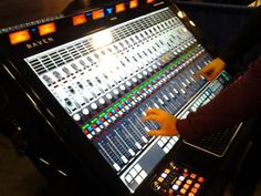 """this is The Slate Raven. This mixing system is a 46"""" touchscreen that includes all of the controls of a standard mixing console."""