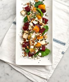 In Season :: Roasted Beet, Pear & Walnut Salad / Jeanine Donofrio
