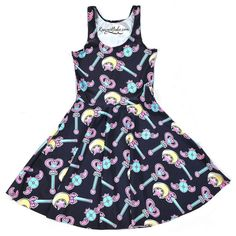 Sailor Moon Magical Girl Wand Skater Dress - Up to Size 4XL! So Kawaii! Magical Girls MUST HAVE! Mahou Shoujo! FREE Shipping Worldwide only at www.KawaiiBabe.com