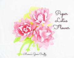 BRICOLAJE papel flor peonía flor de por CatchingColorFlies en Etsy