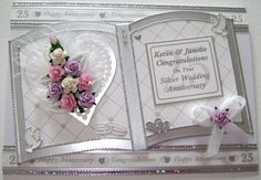 Jeannie Donnelly uploaded this image to 'July 2010 on'. See the album on Photobucket. Anniversary Crafts, Wedding Anniversary Cards, Wedding Shower Cards, Card Box Wedding, Pretty Cards, Cute Cards, Tattered Lace Cards, Wedding Cards Handmade, Romantic Cards
