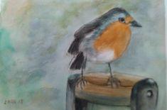 Helper in the garden - watercolor