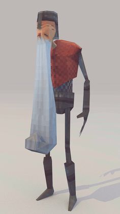 Lowpoly Knight (Turntable) by lithium-sound
