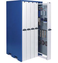 Cabinet with sliding panels / sliding door / floor-standing / metal max. 1 040 x 2 140 x 1 050 mm   WKS Set K series Apfel Metallverarbeitung GmbH