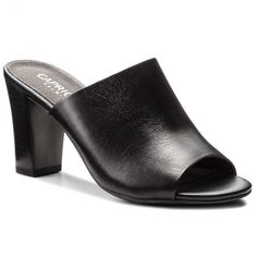 Șlapi CAPRICE - 9-27213-30 Black Nappa 022 30th, Heeled Mules, Shoes, Black, Fashion, Moda, Zapatos, Shoes Outlet, Black People