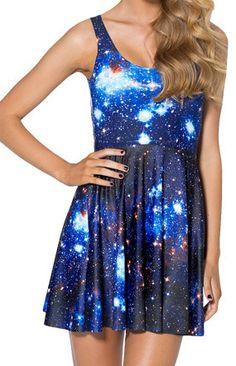 Blue Galaxy Skater Dress – KissKult