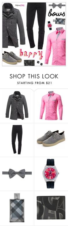 """NewChic Style134"" by nastenkakot ❤ liked on Polyvore featuring Kenzo, Saks Fifth Avenue Collection, Game Time, Salvatore Ferragamo, DAVID DONAHUE, men's fashion, menswear, bows and trend"