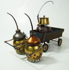 """""""Pull!""""  by Bill McKenney            Bills Retro Robots            Found Object Robot Sculpture"""