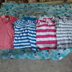 Four striped American eagle shirts buttoned All four size large American eagle button up shirt. All look brand new and have only been worn a couple of times American Eagle Outfitters Tops Button Down Shirts