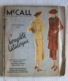 1935 McCall Complete Catalogue of Patterns featuring McCall 8420