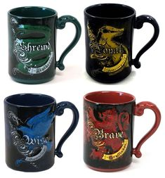 Day 5 in the 31 DAYS OF COFFEE MUGS...A handsome series of Harry Potter house crest themed coffee mugs from the Wizarding World of Harry Potter. #harrypotter #wwohp