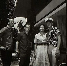 Elvis between takes on the Blue Hawaii set in april 1961 here with a fans.