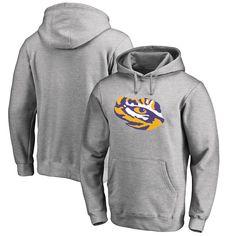 LSU Tigers Fanatics Branded Primary Team Logo Pullover Hoodie - Ash