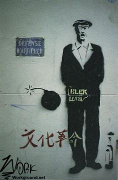 Blek le Rat street artist and art ... Paris