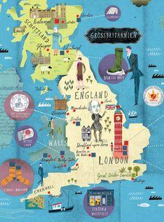 Martin Haake Map London History Map Illustration