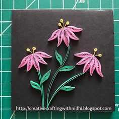 Being Creative in the world of Paper Crafting!: Back to quilling Quilling Birthday Cards, Paper Quilling Cards, Paper Quilling Flowers, Paper Quilling Patterns, Quilled Paper Art, Paper Flowers Craft, Flower Crafts, Paper Crafts, Quilling Dolls