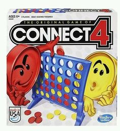 New sealed Hasbro Connect 4 Game kids games fun indoor activity NIB