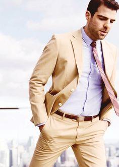 lilac shirt plaid tie
