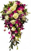 White roses, purple orchid and greens Bridal bouquet to Hyderabad delivery. Fast and same ay gifts delivery to all location in Hyderabad. Visit our site : www.flowersgiftshyderabad.com/Bridal-Bouquet.php