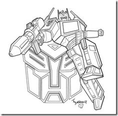 Angry Birds Transformer Galvatron Coloring Page For Kids and