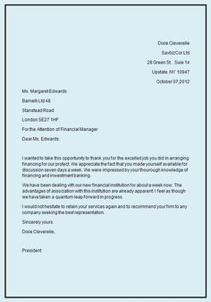 Business Letter Template | business letter format Writing Business ...