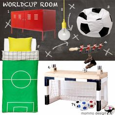 mommo design: MOODBOARD - WORLDCUP ROOM