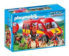 Playmobil Reddingshonden voertuig
