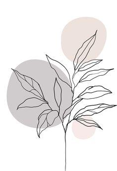 Line plant Art Prints, Art Painting, Line Art Drawings, Abstract Line Art, Painting Art Projects, Abstract, Minimalist Art, Art Wallpaper, Diy Canvas Art