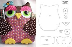Discover thousands of images about Almofada de Coruja com Porta Controle Owl Sewing Patterns, Craft Patterns, Sewing Toys, Sewing Crafts, Diy Pour Enfants, Craft Projects, Sewing Projects, Felt Owls, Owl Crafts