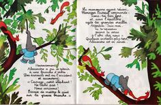 Babar et le crocodile. Jean de Brunhoff. Vintage Children's Book. Vintage Children's Illustration.