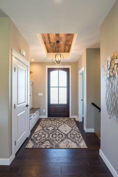 Reclaimed Wood Ceiling Detail - a little bit goes a long way! Reclaimed Wood Paneling, Solid Wood Flooring, Wood Beams, Clare House, Indoor Doors, Ceiling Detail, Wooden Ceilings, Custom Homes, New Homes