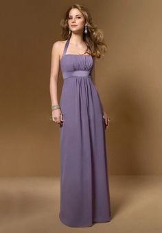 Halter Style Chiffon Long Dress