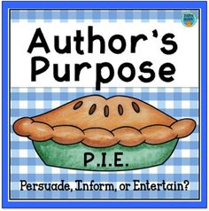 This resource helps students learn to use text to determine the author's purpose for writing. There are three different activities included in this file. The first is a set of task cards. On each task cards, students read a short paragraph and decide t Third Grade Reading, Student Reading, Ar Reading, English Reading, Second Grade, Teaching Supplies, Teaching Tools, Author's Purpose Examples, Authors Purpose Activities